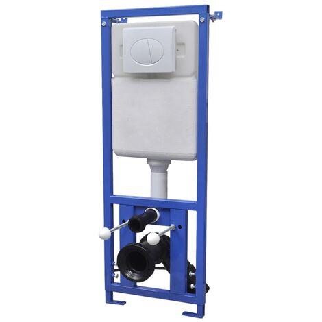 vidaXL Cisterna alta oculta 11 L 41x14x (110-125) cm - Blanco
