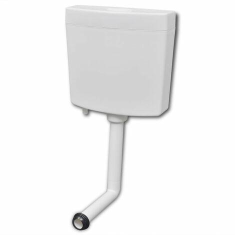 vidaXL Cisterna de inodoro 3/6 L blanca