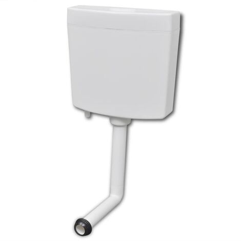vidaXL Cisterna de inodoro 3/6 L blanca - Blanco