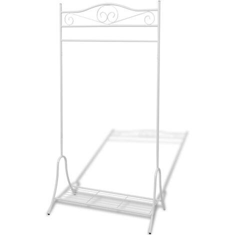 Clothing Rack White Steel
