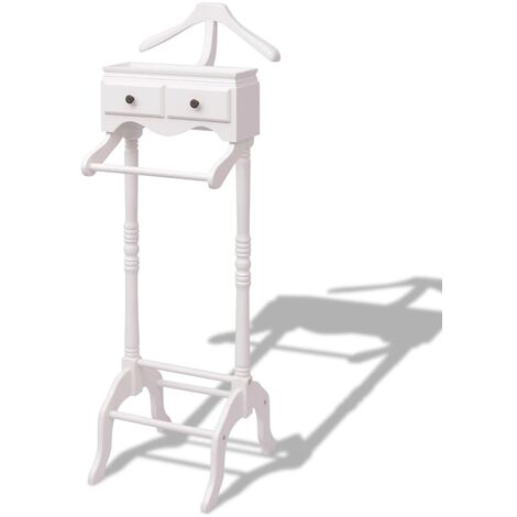 """main image of """"vidaXL Clothing Rack with Cabinet Wood White - White"""""""