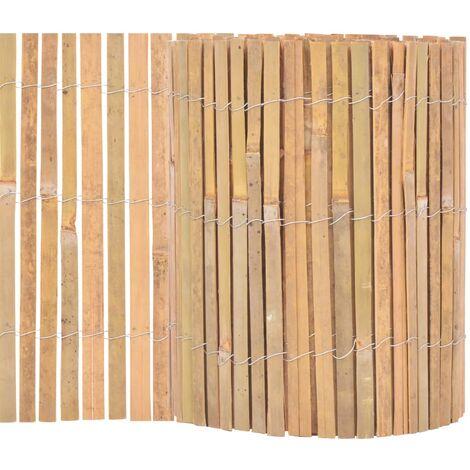 vidaXL Clôture Bambou Brise-vent Brise-vue Panneau de Clôture Bordure de Jardin Allée de Jardin Plates-bande Pelouse Extérieur Multi-taille