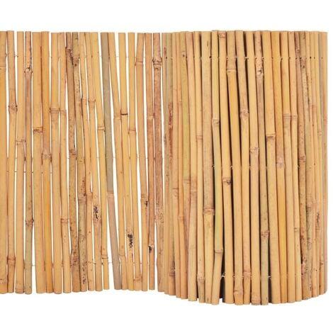 vidaXL Clôture Bambou Brise-vue Brise-vent Panneau de Clôture Bordure de Jardin Allée de Jardin Plates-bande Pelouse Extérieur Multi-taille