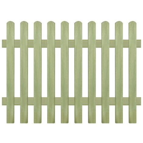 vidaXL Clôture Bois de Pin Imprégné 170x60-120 cm 6/9 cm Bordure Jardin Patio