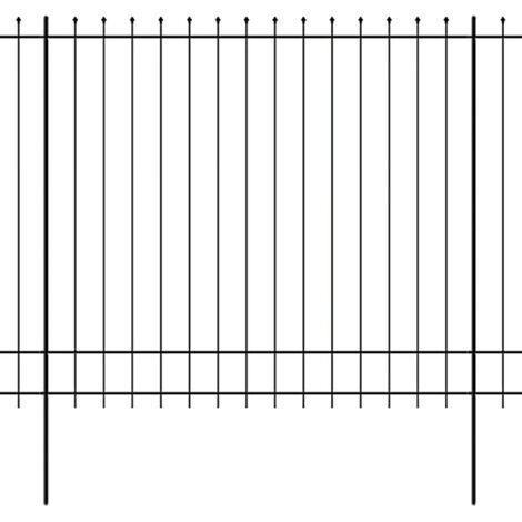 vidaXL Clôture de Palissade de Sécurité Acier Haut Pointu 600x175/200cm Jardin