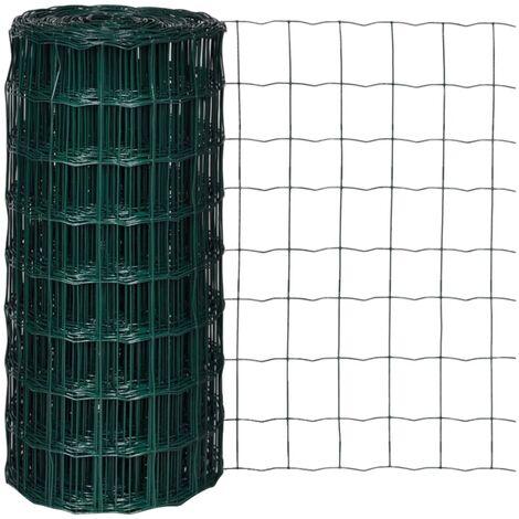 vidaXL Clôture Euro Acier Grillage Bordure de Jardin Protection Ordinaire pour Volaille Chiots Arrière-cour Extérieur Multi-taille