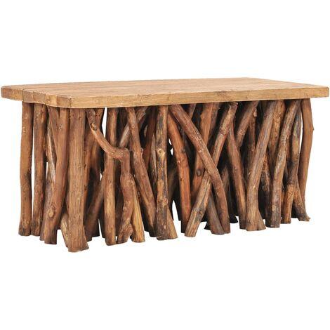 vidaXL Coffee Table 100x40x47,5 cm Solid Reclaimed Wood and Teak Wood - Brown