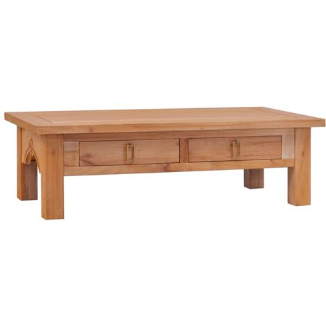 vidaXL Coffee Table 100x50x30 cm Solid Mahogany Wood - Brown