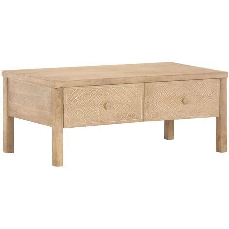"main image of ""vidaXL Coffee Table 100x50x45 cm Solid Mango Wood - Brown"""
