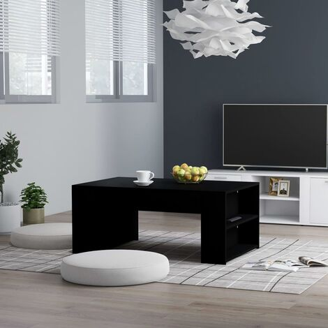 """main image of """"vidaXL Coffee Table with shelves Easy to Clean Living Room Office Furniture Wooden End Side Desk Lounge Table Chipboard Multi Colours"""""""