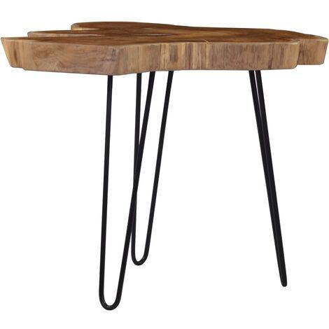 vidaXL Coffee Table (60-70)x45 cm Teak Wood - Brown