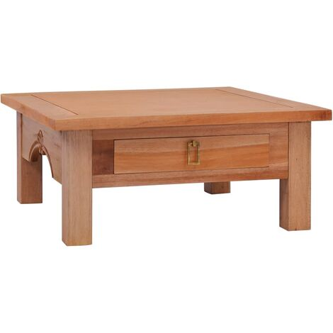 vidaXL Coffee Table 68x68x30 cm Solid Mahogany Wood