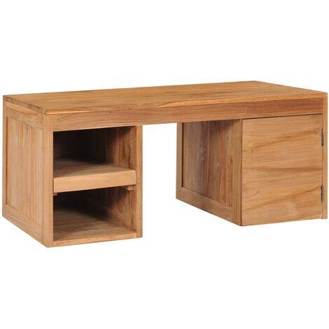 vidaXL Coffee Table 90x50x40 cm Solid Teak Wood - Brown