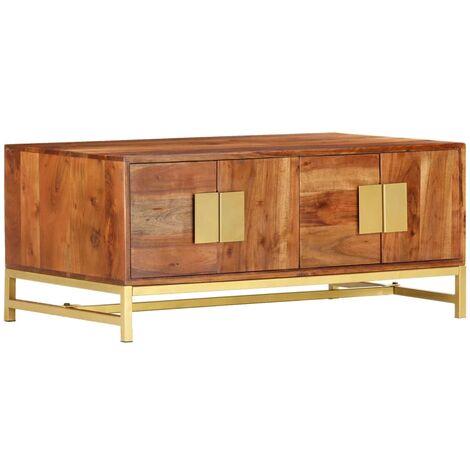 "main image of ""vidaXL Coffee Table 90x55x40 cm Solid Acacia Wood - Brown"""