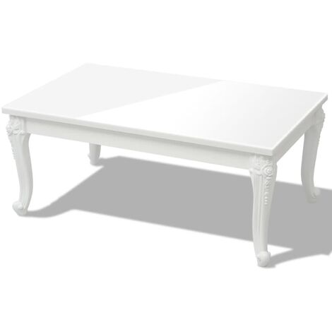 vidaXL Coffee Table High Gloss White Home Living Room Accent End Side Tea Telephone Couch Display Table Decoration Furniture Multi Sizes