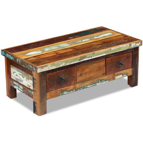 vidaXL Coffee Table Home Interior Indoor Office Living Room Accent Side Couch End Tea Table Desk Furniture Solid Mango/Reclaimed Wood