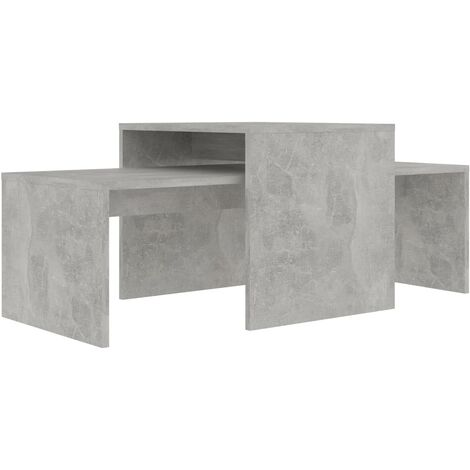 """main image of """"vidaXL Coffee Table Set Home Interior Living Room Furniture Accent Side Tea Couch Sofa Laptop Nesting Stand Chipboard Multi Colours"""""""