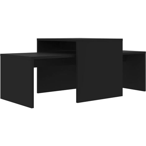 vidaXL Coffee Table Set Home Interior Living Room Furniture Accent Side Tea Couch Sofa Laptop Nesting Stand Chipboard Multi Colours