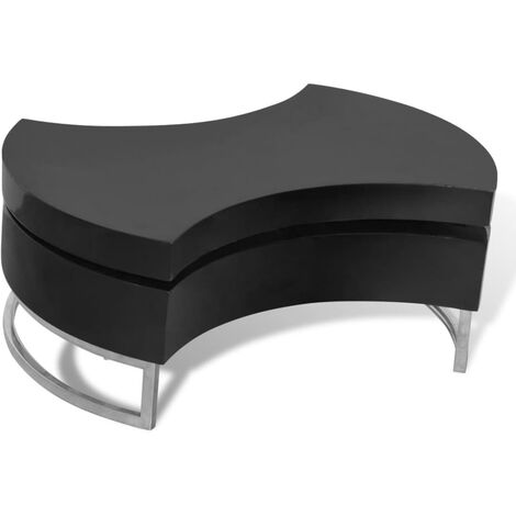 vidaXL Coffee Table Shape-Adjustable Home Living Room Accent End Side Tea Telephone Couch Display Table Furniture High Gloss White/Black