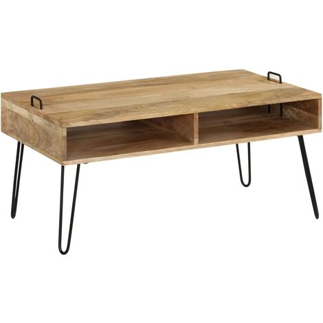 "main image of ""vidaXL Coffee Table Solid Mango Wood 100x60x45 cm - Brown"""