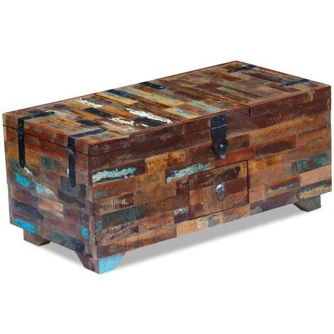 vidaXL Coffre Table Basse Table d'Appoint de Salon Table de Canapé Bout de Canapé Mobilier de Salon de Maison Moderne Multi-matériaux