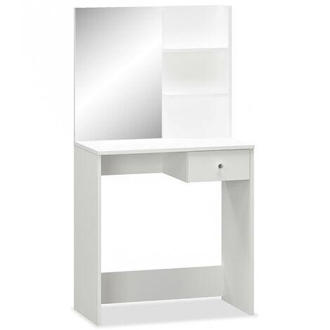 vidaXL Coiffeuse Aggloméré Meuble Maquillage Commode de Maquillage Chêne/Blanc