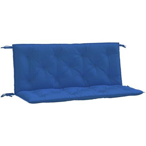 vidaXL Cojín para columpio balancín de tela azul 120 cm - Azul