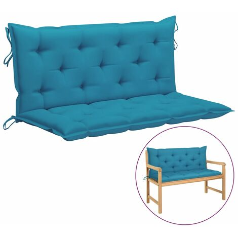 vidaXL Cojín para columpio balancín de tela azul claro 120 cm - Azul