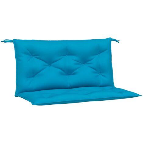 vidaXL Cojín para columpio balancín tela azul claro 100 cm - Azul