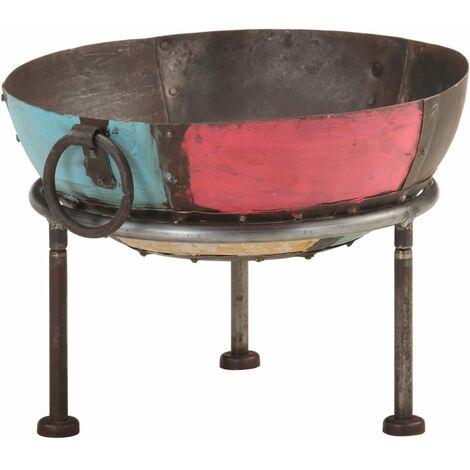 vidaXL Colourful Rustic Fire Pit Ø 40 cm Iron - Multicolour
