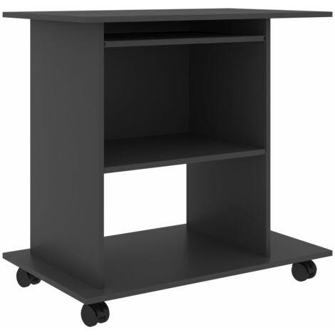 vidaXL Computer Desk Chipboard 80x50x75 cm Office Furniture Laptop Screen Holder Writing Study Table Storage Workstation Multi Colours