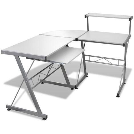 vidaXL Computertisch mit Ausziehbarer Tastaturablage L-förmig Schreibtisch Bürotisch Arbeitstisch Laptoptisch PC Tisch mehrere Auswahl