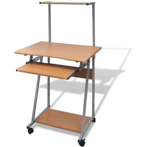 vidaXL Computertisch mit Ausziehbarer Tastaturablage Oberer Ablage Schreibtisch Bürotisch Arbeitstisch Laptoptisch PC Tisch mehrere Auswahl