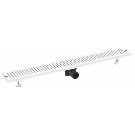vidaXL Conductos para desagüe de ducha acero inoxidable 93x14 cm