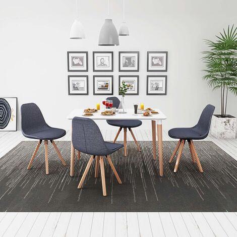 vidaXL Conjunto de Mesa de Comedor y Sillas 5/7 Piezas Asiento Cocina Mobiliario Mueble Salón Interior Respaldo Decoración Estable Sencillo Multicolor