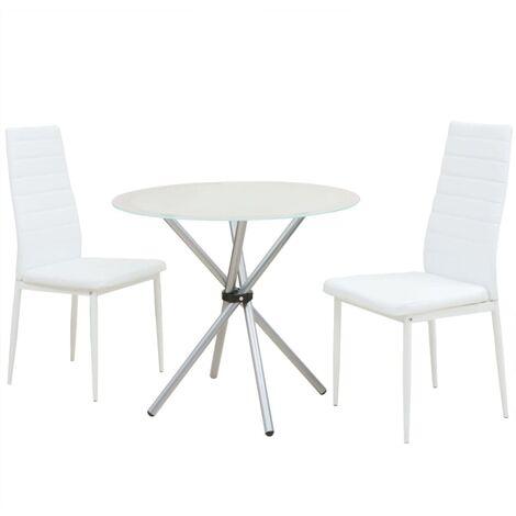 vidaXL Conjunto de Mesas y Sillas de Comedor Asiento Cocina Mobiliario Muebles Salón Interior Respaldo Decoración de Tres/Cinco Piezas Multicolor