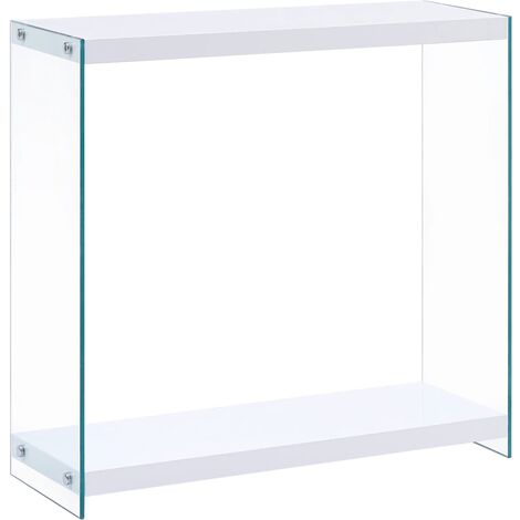 vidaXL Console Table White 80x29x75.5 cm MDF - White