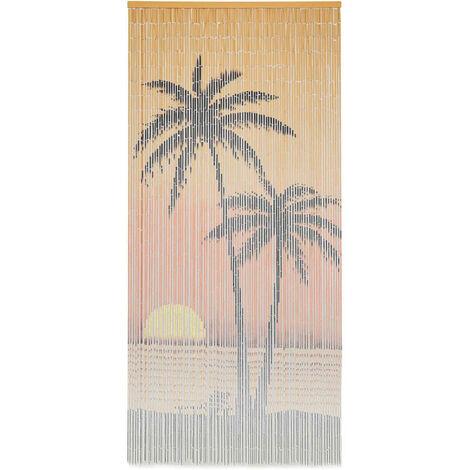 """main image of """"vidaXL Cortina de bambú para puerta contra insectos 90x200 cm - Multicolor"""""""