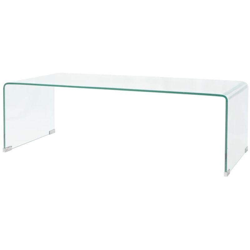 Couchtisch aus gehärtetem Glas 100 x 48 x 33 cm Transparent