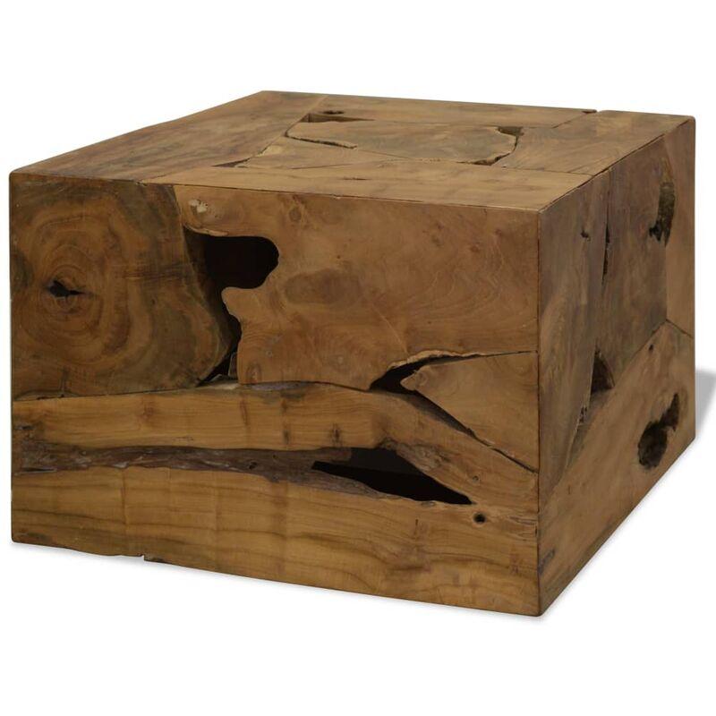 Couchtisch Echtholz 50 x 50 x 35 Braun