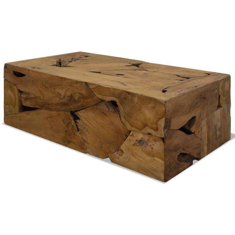 Vidaxl - Couchtisch Echtholz 90 x 50 x 35 cm Braun