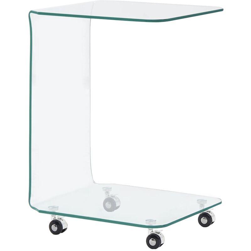 Couchtisch Hartglas 45x40x63cm
