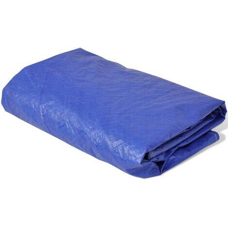"main image of ""vidaXL Cubierta de piscina PE 540 cm 90 g/m² redonda - Azul"""