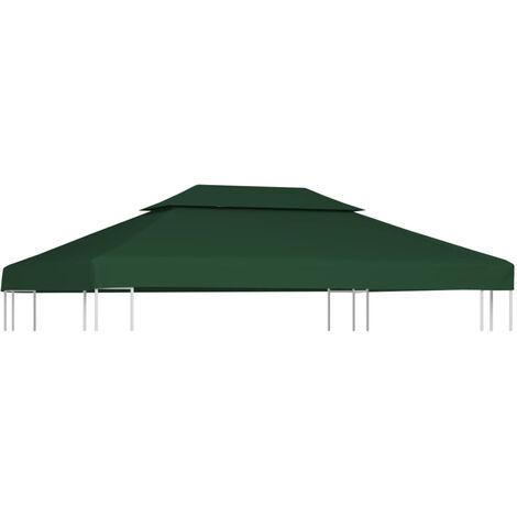 vidaXL Cubierta de repuesto de cenador 310 g/m2 blanco crema 3x4 m (no se puede enviar a Baleares)