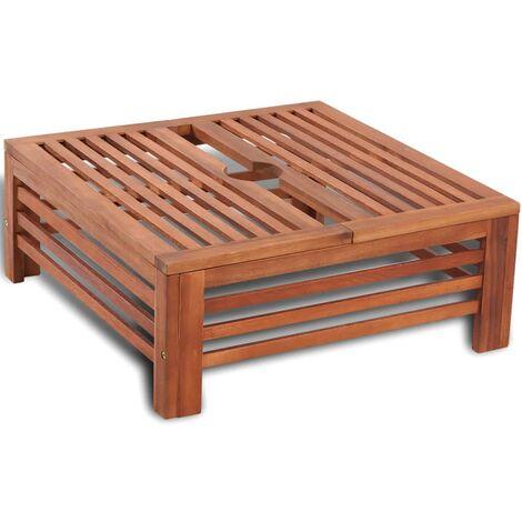 vidaXL Cubierta para base de sombrilla de madera - Marrón