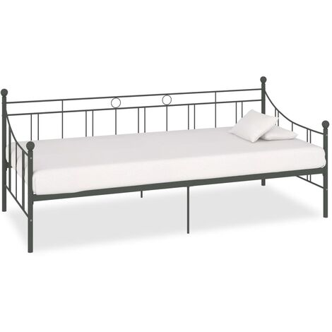 vidaXL Daybed Frame Home Interior Bedroom Dorm Guest Room Furniture Daybed Overnight Sofa Bed Living Room Seating Metal Multi Colours