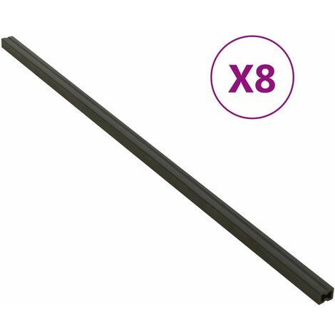 vidaXL Decking Joist 8 pcs Black 170x3x4 cm WPC - Black