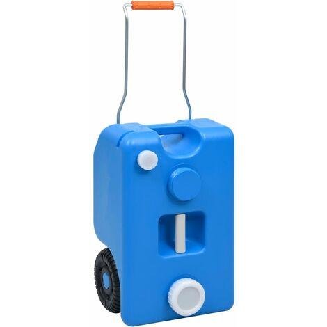 vidaXL Depósito de agua con ruedas para camping azul 25 L - Azul