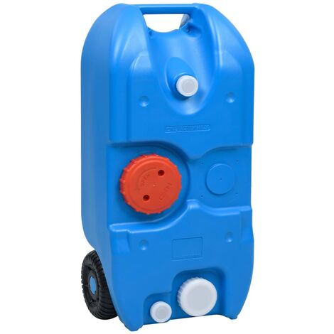 vidaXL Depósito de agua con ruedas para camping azul 40 L - Azul