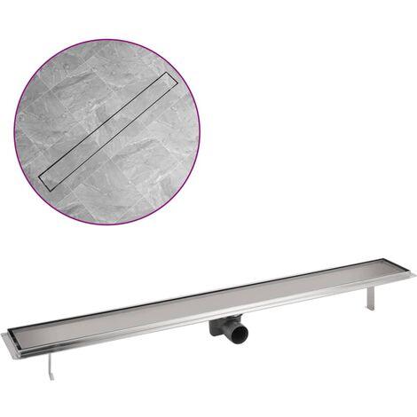 vidaXL Desagüe lineal de ducha acero inoxidable 1030x140 mm